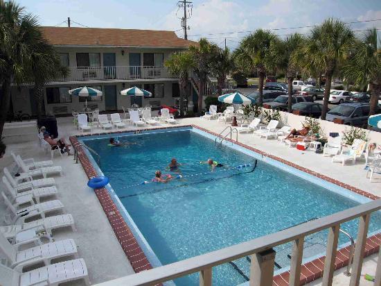 Sunset Inn Pool From Second Floor