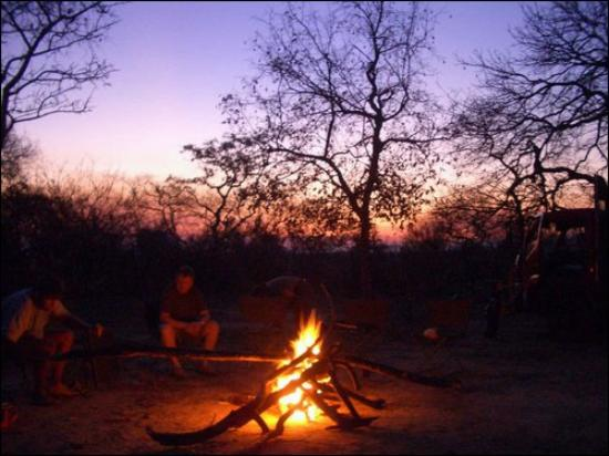 Lochinvar National Park, Zambia: Lochinvar Camp Fire