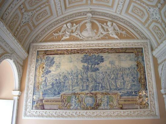 Penha Longa Resort: old tile painting on the wall of one of the meeting rooms inside the Penha Longa monastery