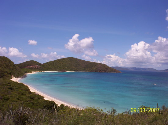 Virgin Gorda : A view of Savannah Bay