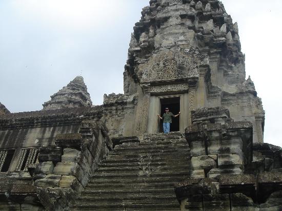 Siem Reap, Kambodża: me at angkor wat