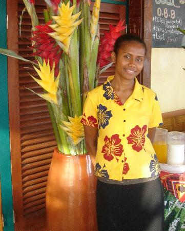 Savusavu Hot Springs Hotel: One of the friendly staff at the hotel.