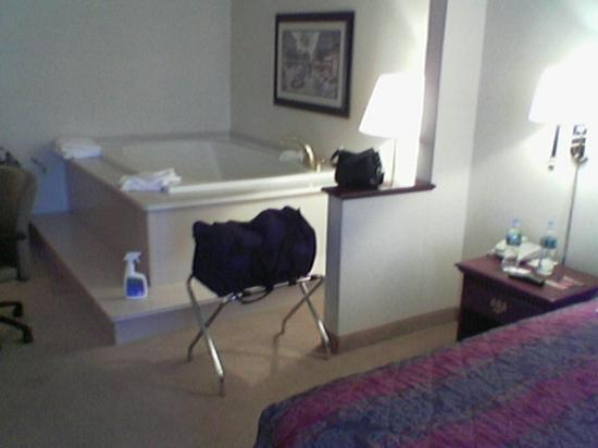 Comfort Suites at Woodbridge: Just before I unpacked and my little spray for the jucuzi which I use at home as well.