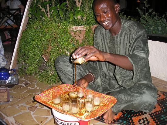 African Village Hotel: Mint tea in the evenings