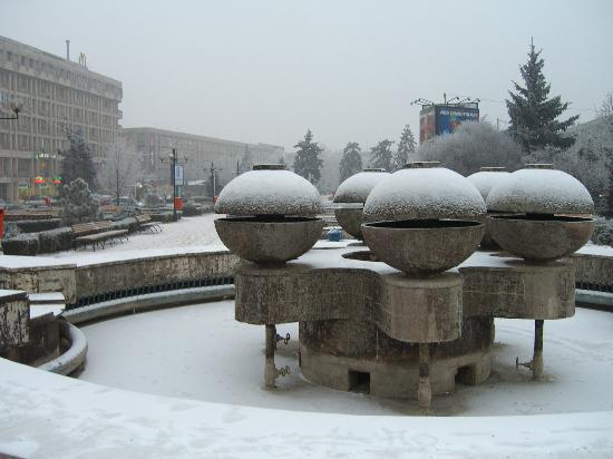 Ploiesti, Romania: Fountain in central square