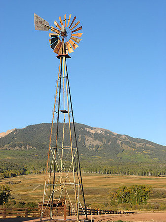 Gunnison, CO : Windmill near Ohio Pass