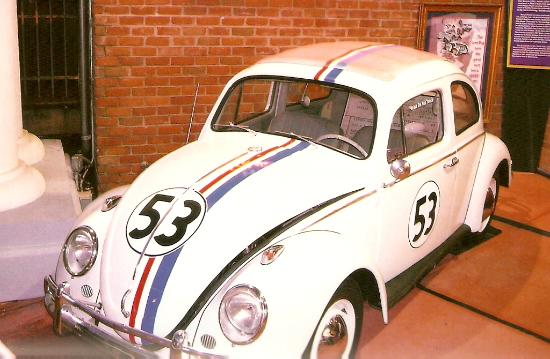 Hollywood Star Cars Museum : Herbie the Love Bug at Star Cars (out front of museum)