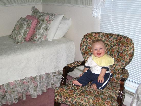 Inn at Grey Gables: Our son enjoying The Henley Suite