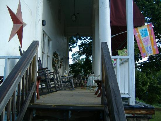Woodward House on Manor Grade: front porch