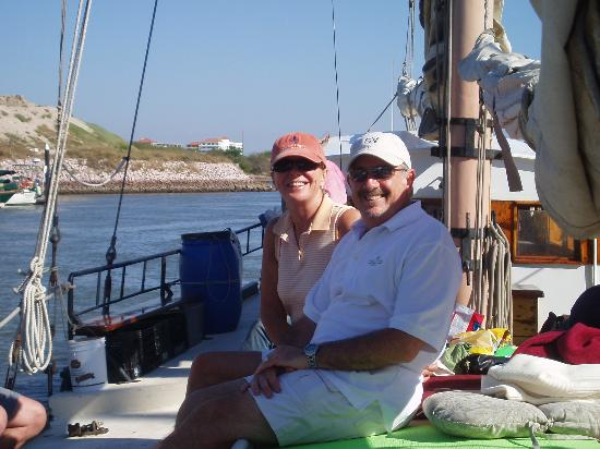 Patricia Belle - Sail Bandido: My fiance's parents. They're just loving it.