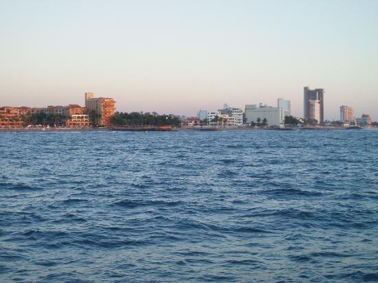 Patricia Belle - Sail Bandido: View of Mazatlan from the Patricia Belle.
