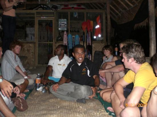 Mango Bay Resort Fiji: Kava Party to loosen you up for coversation :)