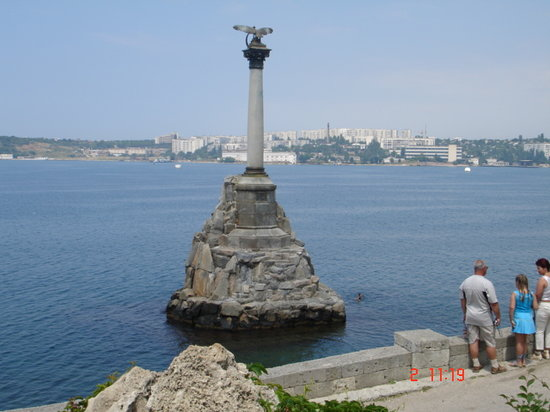 Sebastopol: Monument to the sunken ships Sevastopol Ukraine