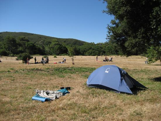 Andrew Molera State Park : Open camp spots, people chillin'