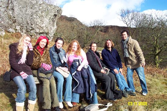 5 Dean Park Crescent : our group on tour around the banks of Loch Lommond