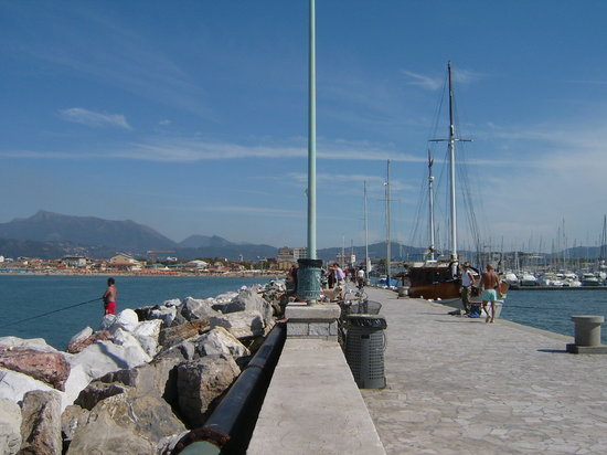Viareggio Harbour Wall