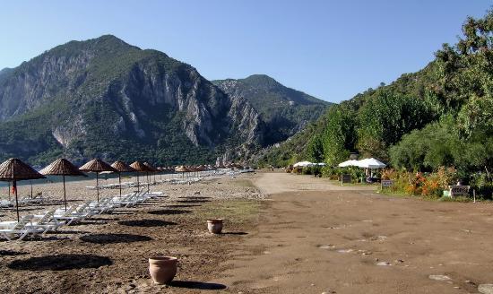 Hotel Villa Monte : Beach, Olympos side