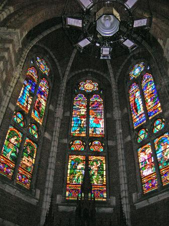 Notre Dame stained glass windows, Bethune, Nord-Pas-de-Calais, France