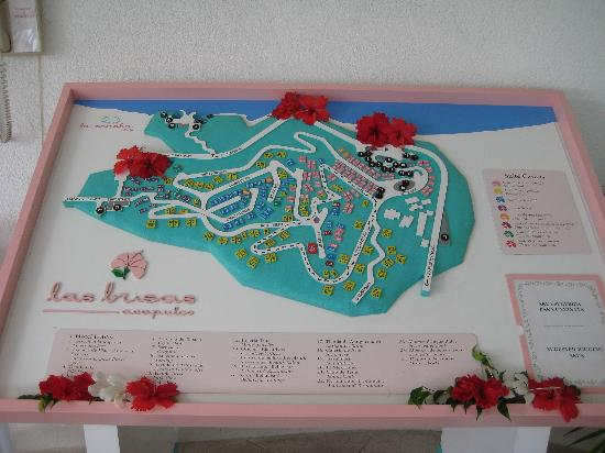 Map of the property Picture of Las Brisas Acapulco Acapulco