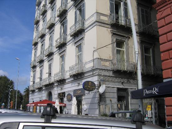 Suite Partenopea: The corner Azalea room(1 window facing ocean (left)) at Partenope B&B (2nd floor over restaurant