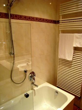 Tub-shower set behind half-height, half-length glass - Picture of ...
