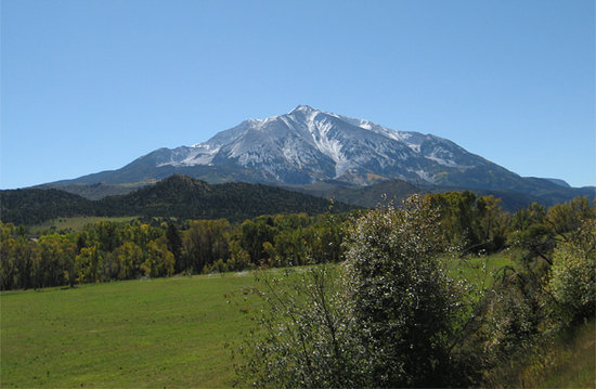 Mount Sopris in Carbondale