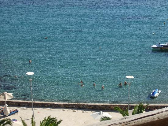 Dessole Mirabello Beach & Village: View of the beach from our balcony