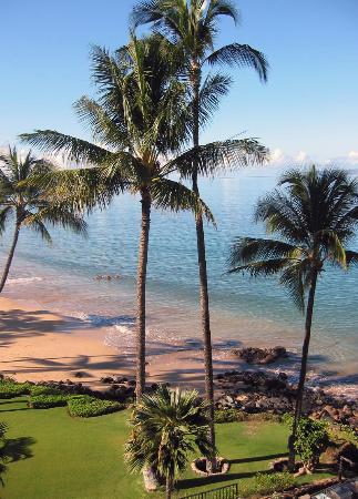 Kamaole Nalu Resort: View down the beach from lanai