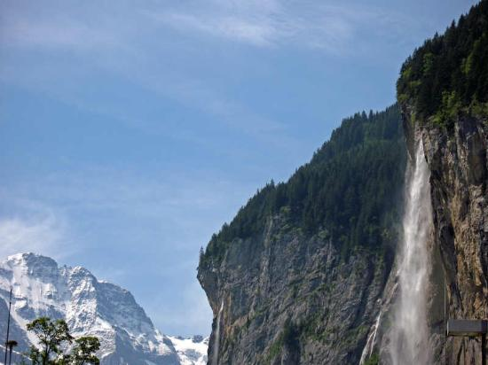 Beausite Park Hotel: One of the many waterfalls in Lauterbrunnen valley