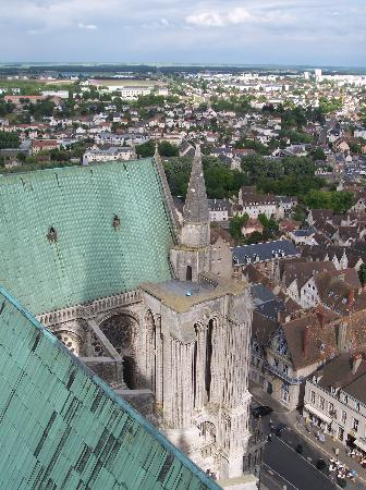 Chartres, Frankrig: View from North tower
