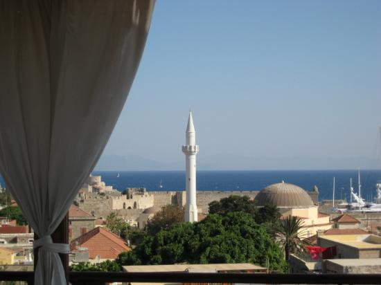 Minos Pension & Roof Garden Lounge: View from the Rooftop
