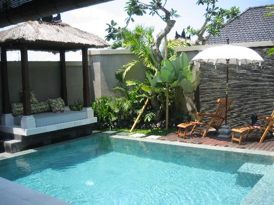 Disini Luxury Spa Villas: Great pool and gazebo! Lounging with a glass of wine