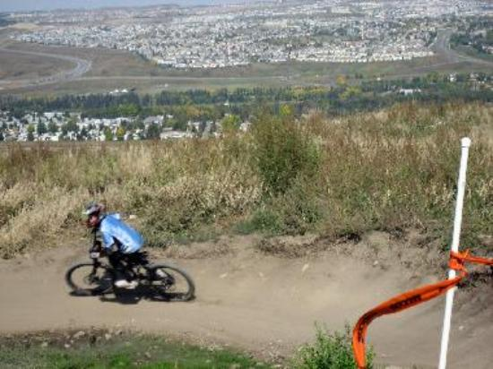 Mountain bike at top of hill - Canada Olympic Park