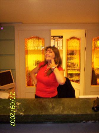 Hotel Plaza Cavana: Nancy, just being Nancy.