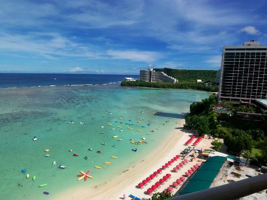 Outrigger Guam Beach Resort View From Balcony On 17th Floor