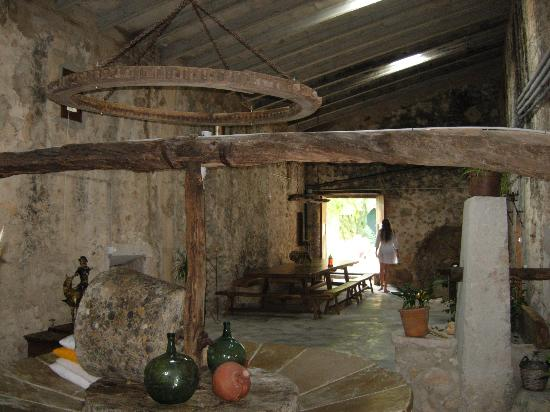 Finca Es Castell : An old olive-pressing room in the Finca