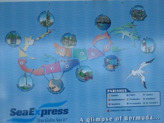 Bermuda Map Picture of Bermuda Caribbean TripAdvisor