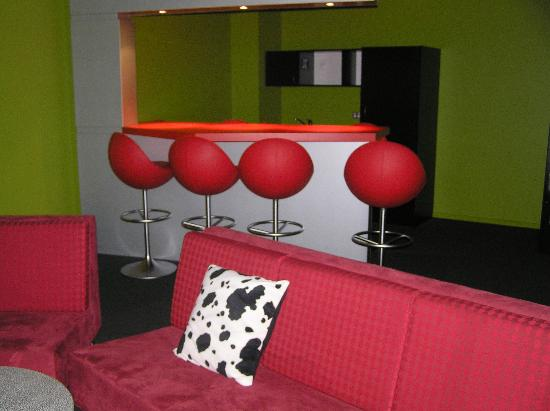 The LivingSpace Christchurch : Relax room with movies, couches and meeting areas.