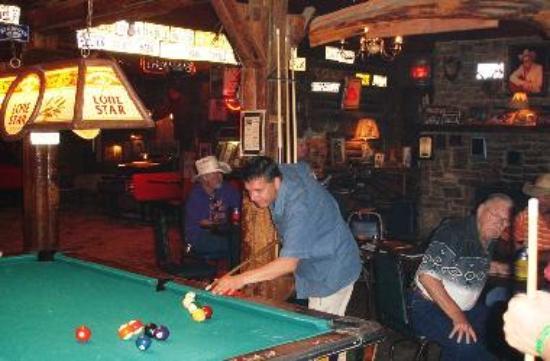 Playing Pool in Arkey Blue's Silver Dollar