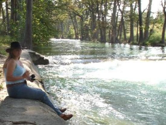 Fishing on the river in Bandera