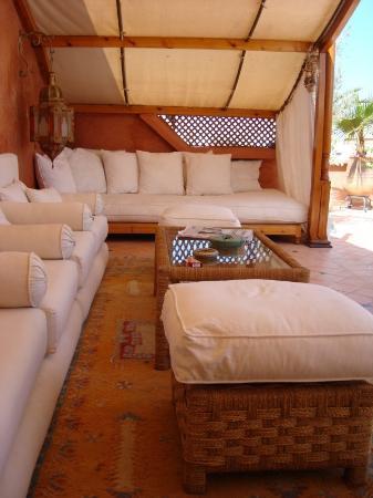 Riad Monika: terrasse