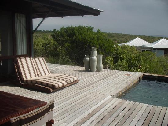 Kwandwe Private Game Reserve, Sør-Afrika: Kwandwe Ecca Lodge - Outdoor Terrace