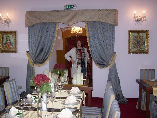 The Chateau: The splendour of the dining room.