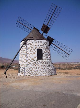 Fuerteventura, Spanien: Typical canarian windmill