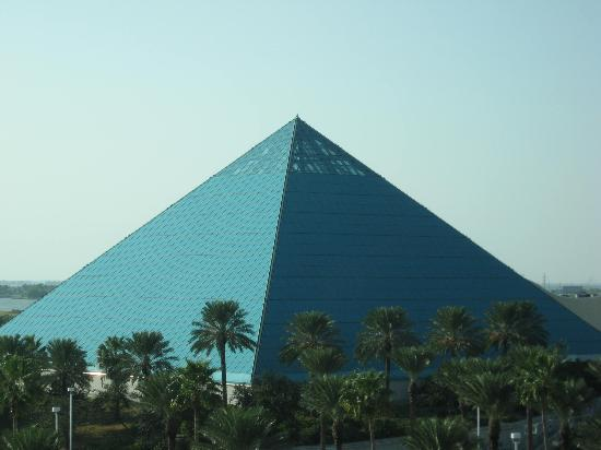 Moody Gardens Hotel Spa & Convention Center: View of pyramid from room
