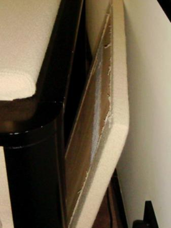Maximilian Hotel: when I moved the chair away from the wall, the back fell off