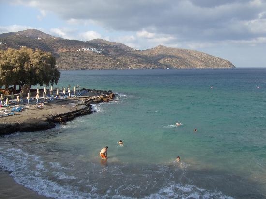 Dessole Mirabello Beach & Village: Hotel beach from our balcony