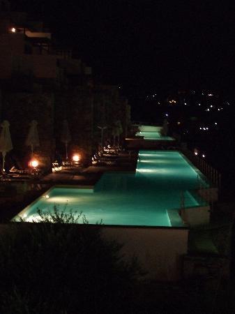 Dessole Mirabello Beach & Village: infinity pools at night
