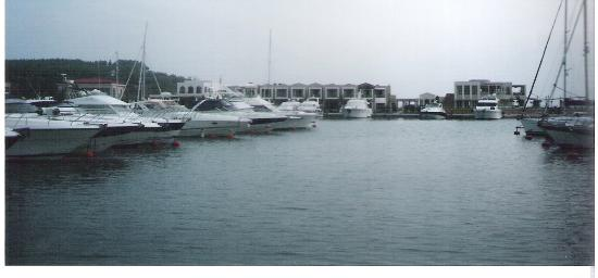 Sani Beach: the marina
