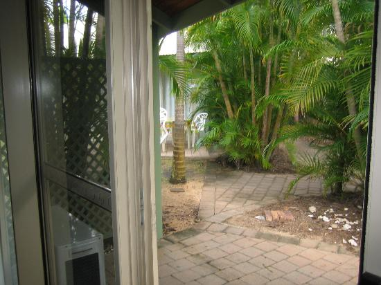 Island Leisure Resort: View out patio door from inside